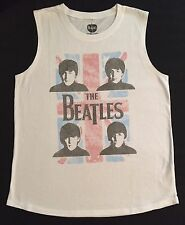 THE BEATLES White Tank Top-Women's LARGE-New