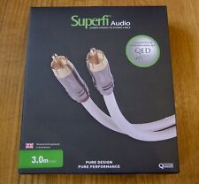 QED 'Superfi' Twin Phono RCA Cable // 3M Length // Audiophile Interconnect