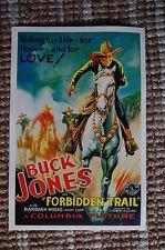 Forbidden Trail Lobby Card Movie Poster Western Buck Jones