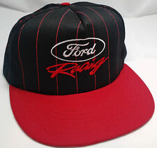 FORD RACING snapback hat cap adjustable red black pinstripes VTG script