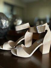 Steve Madden Tan Ankle Strap Heels Sz 8