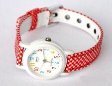 Casio Lq139lb-4b Womens White Dial Analog Quartz Watch With Cloth Strap