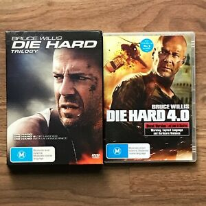 DIE HARD Trilogy DVD Box Set & DIE HARD 4.0 DVD Bruce Willis -