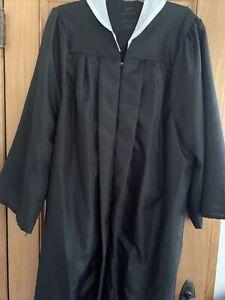 """Jostens Black Graduation Gown Zip Front Adult 5'7""""-5'9"""" Costume"""