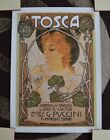 """Tosca - G Puccini - 27.5"""" x 19.75"""" Vintage Theater Poster - IMMACULATE CONDITION"""