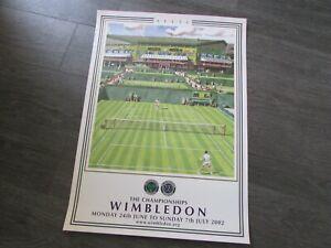 WIMBLEDON Lawn Tennis Championships 2002 Original on Site Promotional Poster