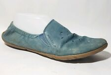 Merrell Spice Glove Barefoot Blue Shoe Leather Vibram Sole Wmns 9 M Ballet Flat