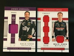2020 National Treasures Racing Jimmie Johnson Brad K fire suit shoe lot /25