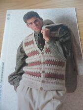 Fairisle Waistcoat Style 1979 Odhams Knitting Collection Pattern Card