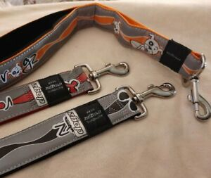 Rogz Reflective Dog Lead SHORT WIDE Silver RED ORANGE Black XXL 50cm 20 inches