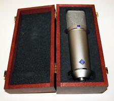 Neumann U87Ai Micrófono Condensador De Diafragma Grande Con Estuche de madera de Neumann