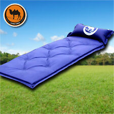 Portable Outdoor Camping Hiking 3.5cm Utomatic Blow-up Lilo Blue Mattresses