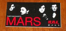 30 Seconds to Mars ORIGINAL PROMO Sticker 2007 A Beautiful Lie