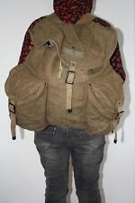 Großer alter ital. Armee Rucksack aus Canvas Vintage Army Leinen Militär bw