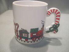 8 OZ CERAMIC LOVE MUG SEASONS GREETINGS COFFEE CUP CHRISTMAS TRAIN