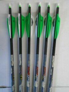 Ten Point Pro Elite 400 Alpha-Nock Carbon Crossbow Arrows 6-Pack