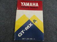 1973 1974 Yamaha GT-MX A Owners Manual GTMXA GT MXA GT-MXA