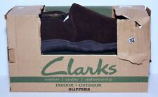 Clarks Indoor Outdoor Slippers Brown 10 New NIB SH20641