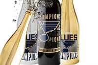 ST LOUIS BLUES 2019 Stanley Cup Champions limited edition Champagne Wine bottle
