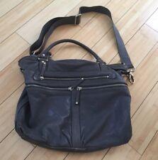 9611577efa61 Designer Banana Republic Womens Gray Leather Purse Hand Bag Large Mod  Everyday