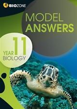 Year 11 Biology Model Answers for student workbook by Biozone 21st Edition
