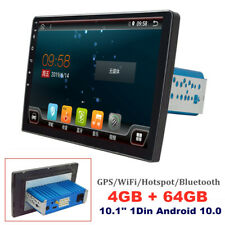 10.1'' 1Din Android 10.0 WiFi/Bluetooth 4G+64G Car Stereo Radio GPS MP5 Player