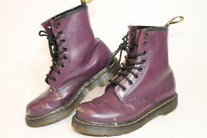 Dr. Martens Womens Size 5 36 Purple Leather Lace Up Combat Ankle Boots 11821