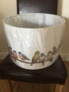 """Laura Ashley Garden Birds Drum Shade 40cm (16"""") Brand new Sealed"""