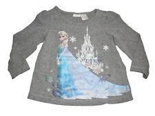 H & M tolles Langarm Shirt Gr. 68 grau mit Eiskönigin Elsa Motiv !