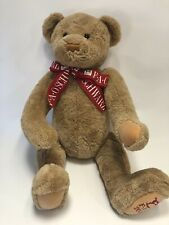 FAO Schwartz 2000 Large Jointed Plush Teddy Bear With Ribbon
