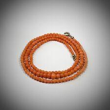 collana vintage  - corallo naturale - color salmone - gancio argento 925  -1hg