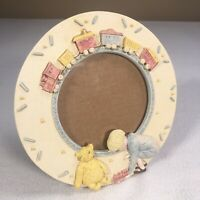 "Charpente Disney Winnie The Pooh Picture Frame 4.25"" Circle Freestanding Resin"