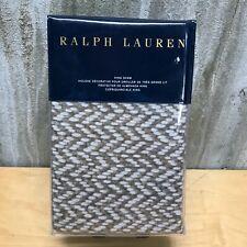 Ralph Lauren Marylebone Brantley Brown Standard Sham NWT