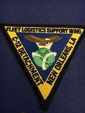 """US NAVY  PATCH """"C-12 DETACHMENT -FLEET LOGISTICS SUPPORT NEW ORLEANS,LA"""""""