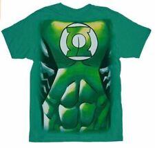 Adult Green DC Comics Green Lantern Muscle Costume Suit Print T-shirt Tee