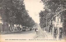 CPA 92 LA GARENNE COLOMBES Bd DU HAVRE PRIS DU PONT DE CHARLEBOURG