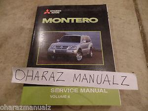 2003 Mitsubishi Montero Service Manual SRS Chassis Electrical Volume 4