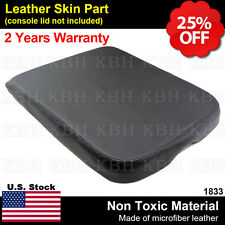 Armrest Center Console Leather Synthetic Cover for Dodge Ram 02-08 Black