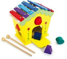 Wooden Dodoo House of Sounds Activity Box with Shape Sorter Toy Gift