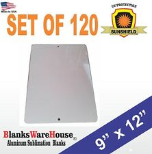 """120 Pieces PARKING SIGN  ALUMINUM  SUBLIMATION BLANKS 9"""" x 12"""" / WITH HOLES"""