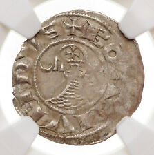 CRUSADERS, Antioch. Bohemond III Silver Denier, 1163-1188 AD, NGC XF Details