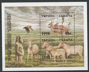 Ukraine 1998 Fauna Animals Deer, Horse MNH Block