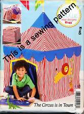 KWIK SEW SEWING PATTERN 145 CHILDS CIRCUS CUBBY HOUSE/PLAY TENT, FITS CARD TABLE