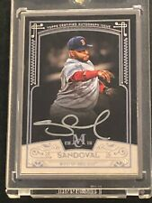 2016 Museum Collection Pablo Sandoval Silver Framed Autograph Auto 7 of 10