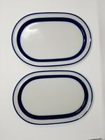 "Noritake FJORD Primastone China 14 1/4"" Stoneware Serving Platters Set of 2"