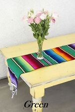 """Mexican Serape Blanket Table Runner 72"""" by 12"""".  Many colors to choose from"""