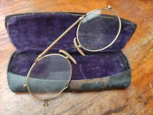 antik Brille alter Kneifer Brillengestell  Zwicke Lesebrille