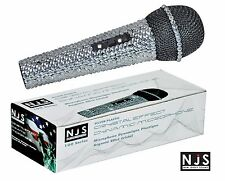 NJS Silver Crystal Bling Dazzling Effect Karaoke Party Home Microphone Mic