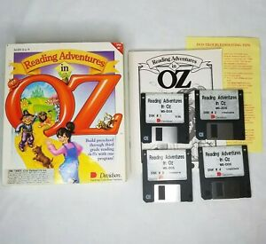 Reading Adventures In Oz PC Game MS-DOS Floppy Discs Vintage Davidson Preschool