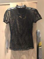 Oasis Ladies Black Lace Top Size 8